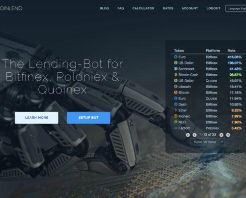 coinlend - lånerobot til bitfinex